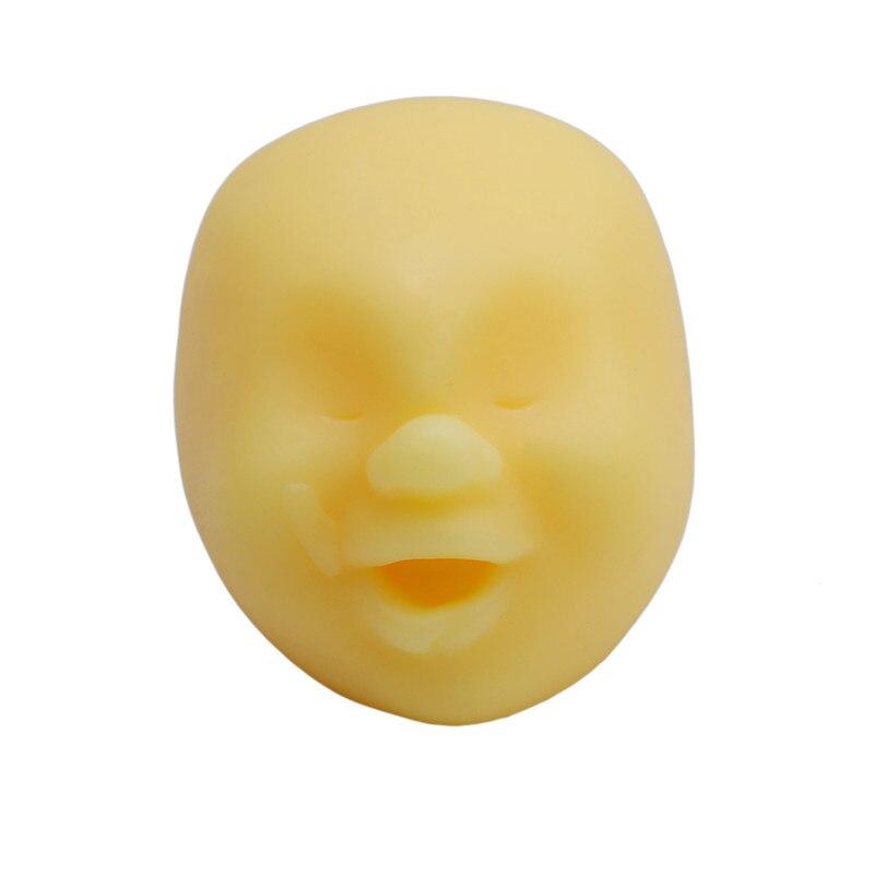 Забавная Новинка каомару, антистрессовая игрушка с мячом, с человечеловеческим лицом, удивище, сюрприз, эмоция, шар из смолы, расслабляющая, для взрослых, игрушка для снятия стресса, подарок - Цвет: Yellow