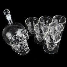 700 мл прозрачный хрустальный череп голова бокал для вина Бутылка 75 мл виски водка рюмка стеклянная чашка питьевые чашки и бутылки бар кружка подарочный набор