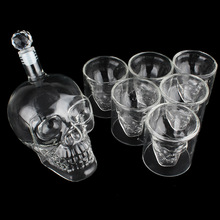 700ml Clear Crystal Skull Head Wine Glass Bottle 75ml Whiskey Vodka Shot Cup Drinking Cups And Bottles Bar Mug Gift Set
