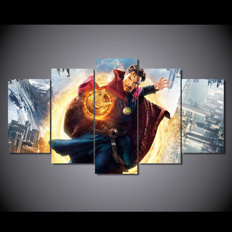 canvas art Printed doctor strange movie Painting Canvas Print room decor print poster picture canvas Free