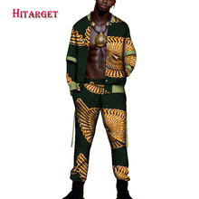 2018tracksuit men Autumn Mens African Clothing dashiki african print suit 2 pieces Mensclothe Cotton Plus Size WYN95
