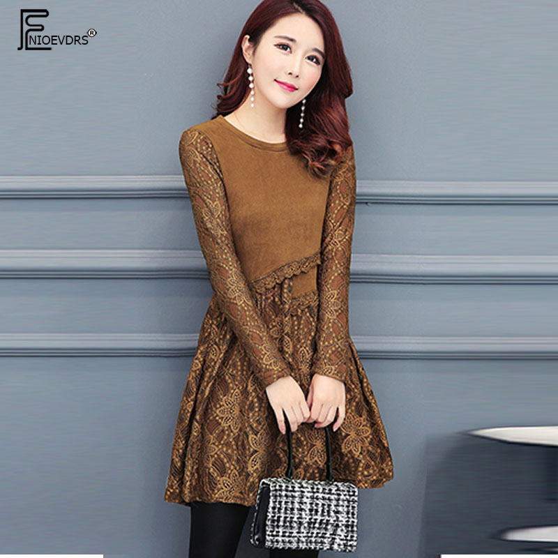 Winter Basic Warm Velvet Dresses Hot Sales Women Fashion Temperament Lady  Patchwork Hollow Out Lace Tunic Velour Mini Dress 1219-in Dresses from  Women s ... b2c8149fdd6f