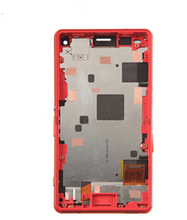 Red color LCD For Xperia Z3 mini For Z3 Compact d5803 d5833 M55W displayTouch Digitizer Screen Assembly+Frame Replacement