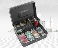 8 Compartments Coin Cash Mini Safe Box Tray Lockable Security Box Treasuries Supermarket Convenience Store Collection