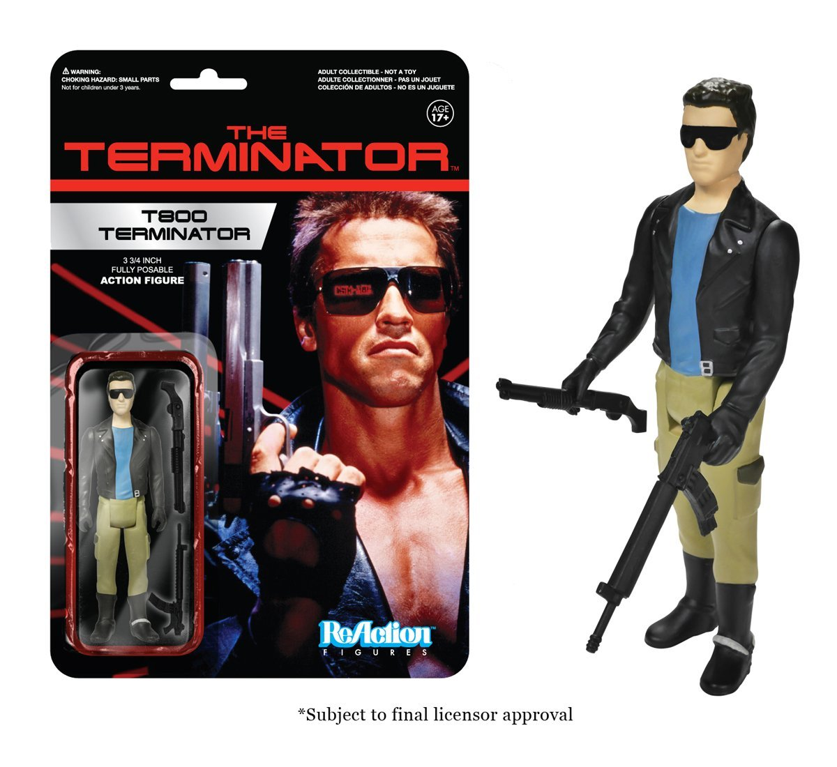 Funko ReAction Figure The Terminator - T-800 Vinyl Action Figure Collectible Model Toy With Original Box