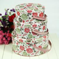 Zakka sheet tin vintage pink flowers miscellaneously storage box seal snacks portable storage tank piece set