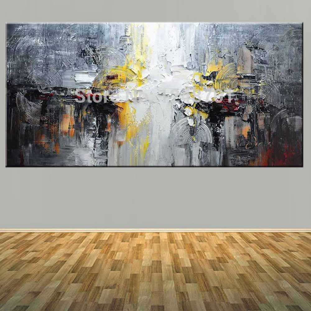 Large Size Hand Painted Abstract Impasto Oil Painting on Canvas Abstract Wall Picture Living Room Bedroom Home Wall Art Decor