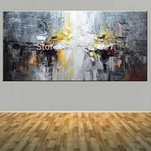 Large Size Hand Painted Abstract Impasto Oil Painting on Canvas Wall Picture Living Room Bedroom Home Art Decor