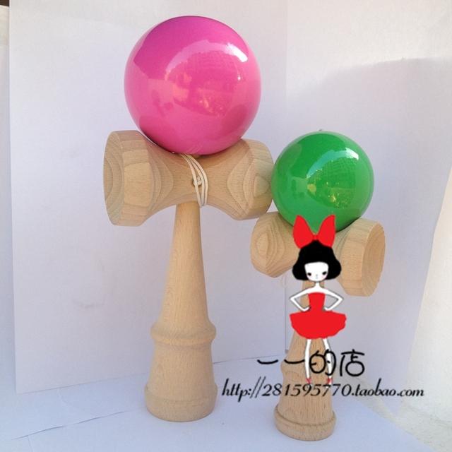 Rei espada habilidade bola bola brinquedos de madeira para crianças brinquedos educativos divertido adulto kendama professional 50 pçs/lote