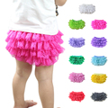 New Sale Bragas Color Baby Ruffle Bloomers Layers Lace Bloomer Diaper Cover Newborn Shorts Summer Bloomers Style Free Shipping