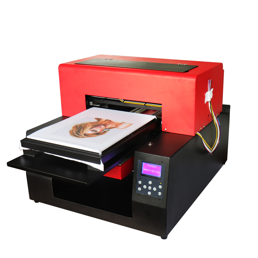 Automatic T-shirt Cloth T shirt Printer UV inkjet A3 Size Digital Custom DIY Garment Printing Machine 2880 FOR EPSON 1390 led uv curable ink for epson 1390 printer head printing on hard materials for 3d effects 1000ml pcs 6c