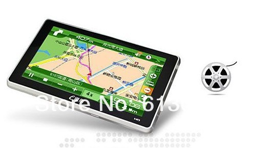 HD 800*480 7 inch GPS Navigator without BT&AV IN 4GB DDR 128M load new 3D map Free shipping
