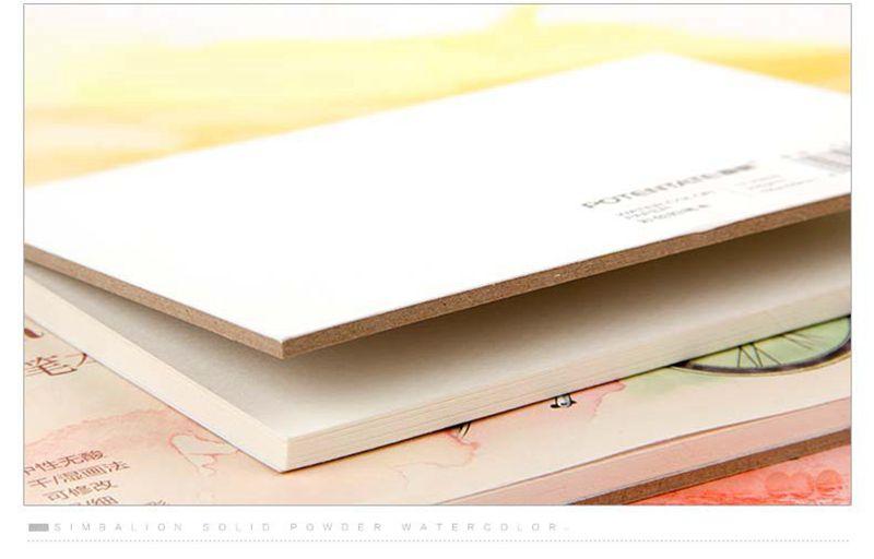 A6 A5 12 páginas papel acuarela lápiz de Color de agua papel de ...