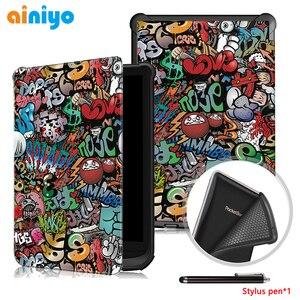 Защитный чехол для pocketbook 627 616 632, ультра тонкий магнитный смарт-чехол из полиуретановой кожи для PocketBook Touch Lux 4/Basic Lux 2