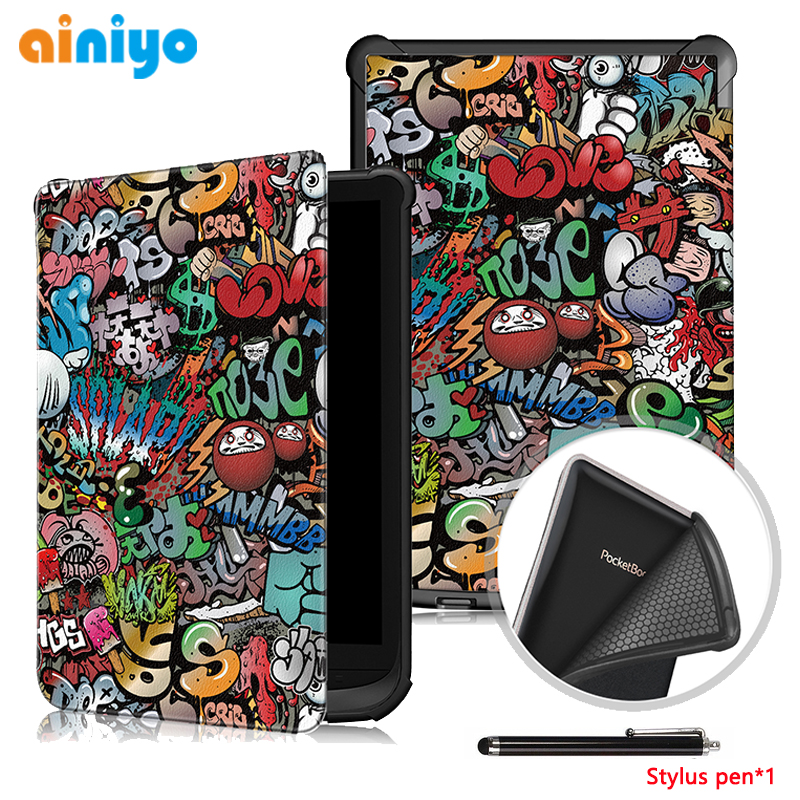 Protective Case for <font><b>pocketbook</b></font> 627 <font><b>616</b></font> 632, Ultra Slim magnetic Smart PU Leather cover for <font><b>PocketBook</b></font> Touch Lux 4/Basic Lux 2 image