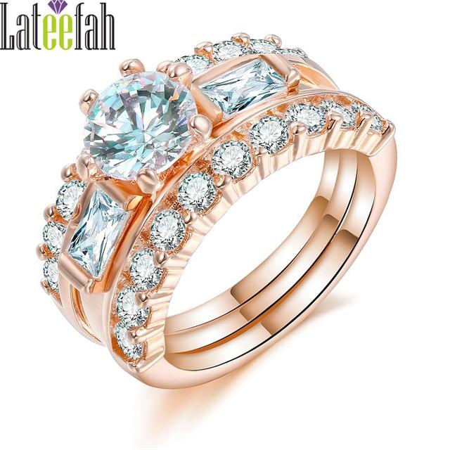 Lateefah Luxury Designer Jewelry Rings for Women Elegant Rose Gold