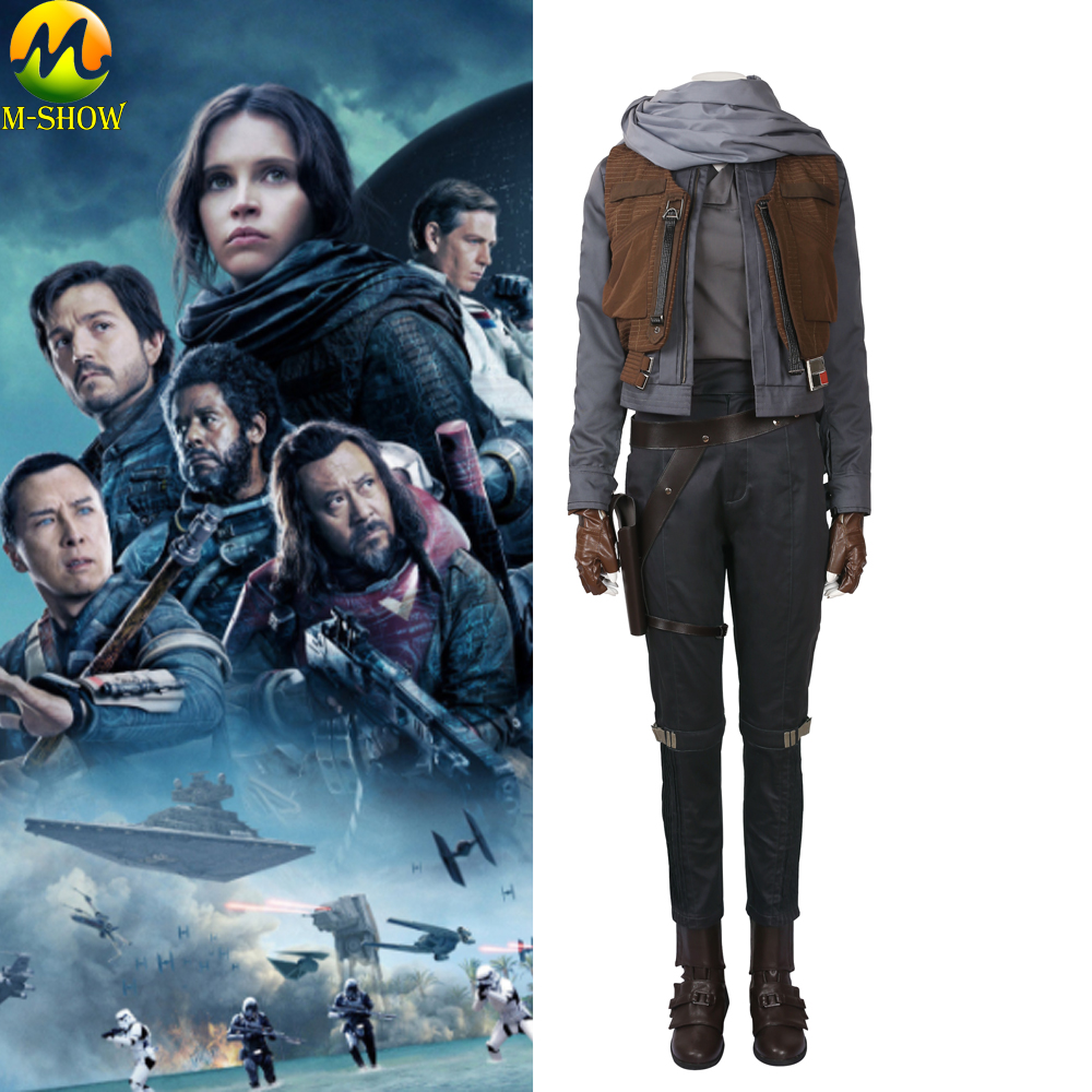 Rogue One A Star Wars Story Cosplay Costume Jyn Erso Cosplay Costume Adult Women Carnival Halloween Costume Custom Made-in Movie & TV costumes from Novelty & Special Use    1