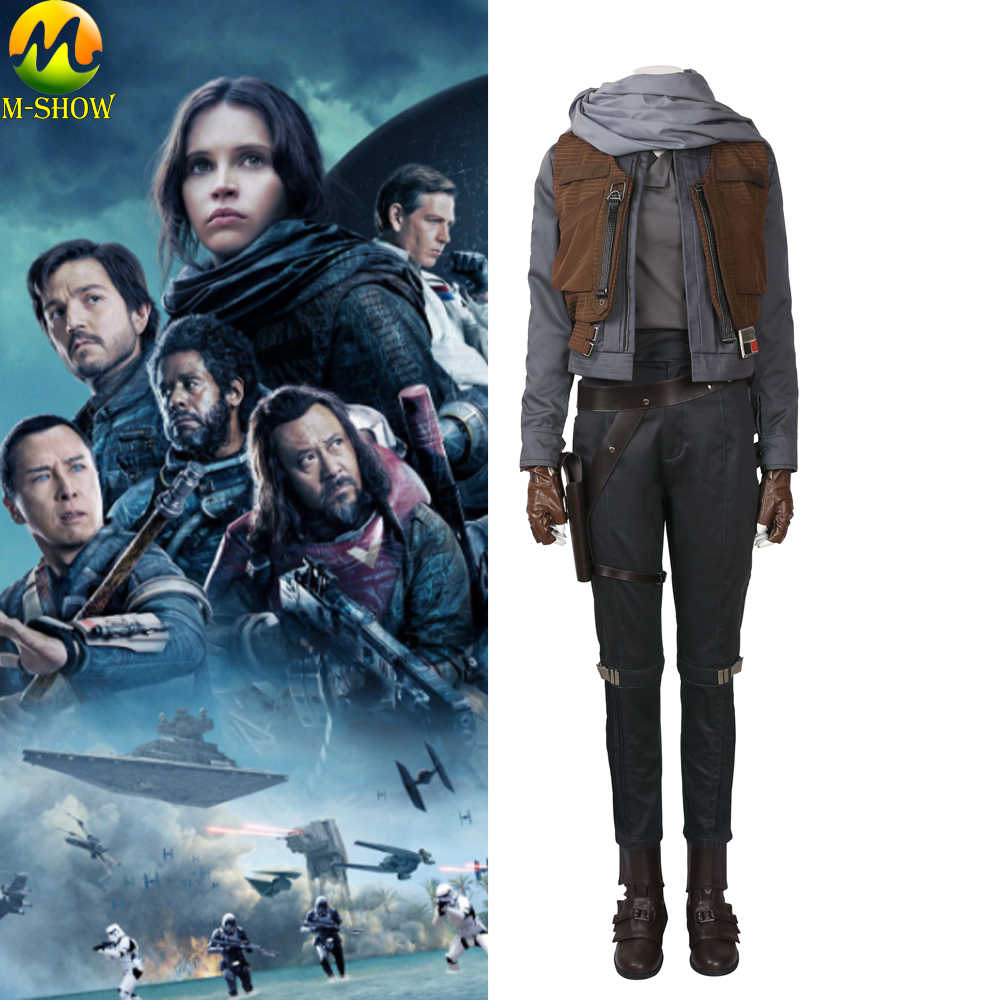 Rogue One A Star Wars Story Cosplay Costume Jyn Erso Women Carnival