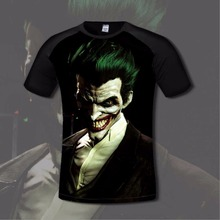 Super Hero Men's T shirt Comfortable Anime Joker & Batman 3D Print T-shirts Casual gamer Clothing flexible fashion shirt