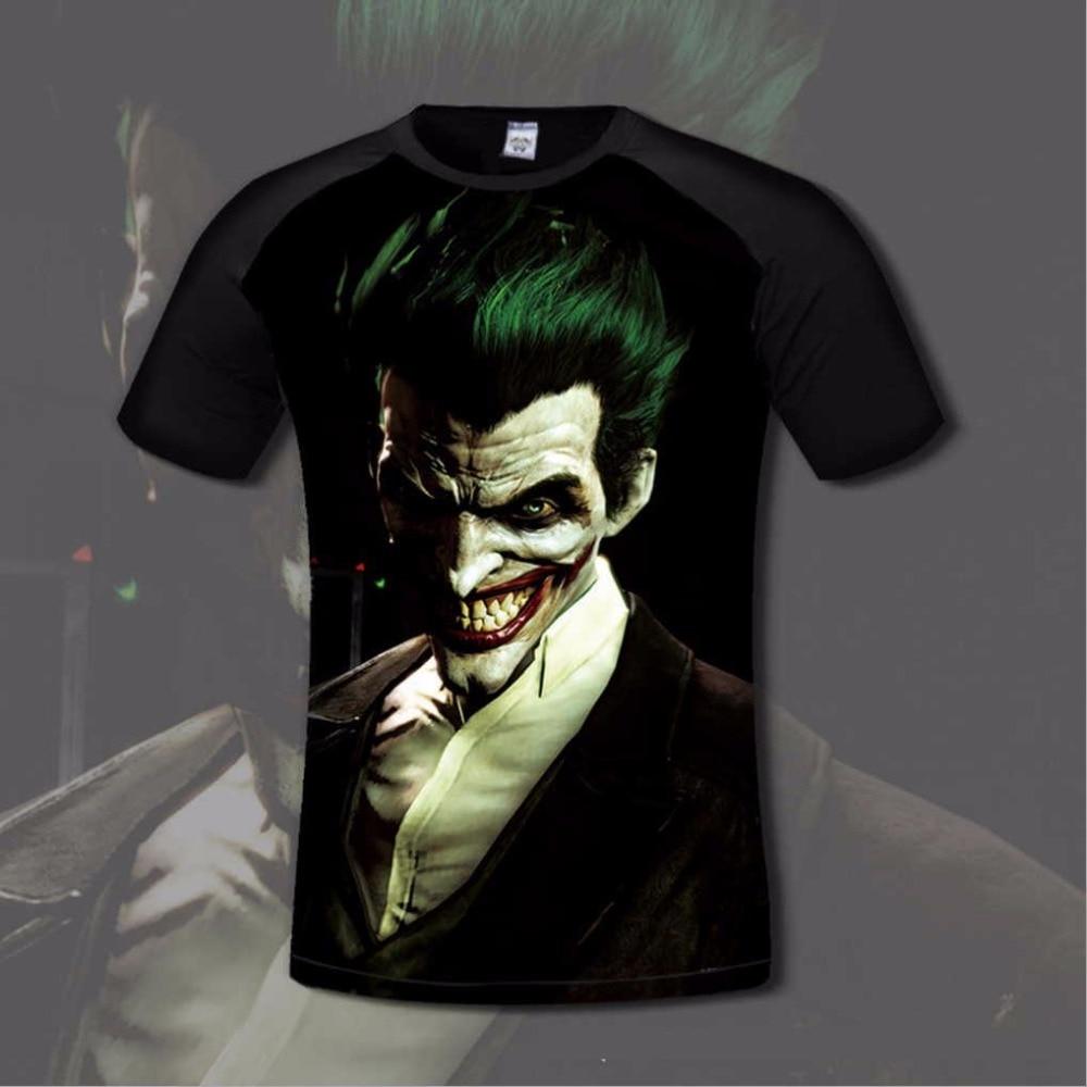 Super hero męska t shirt wygodne anime joker & batman 3d print t-shirty casual clothing gamer elastyczne mody koszula