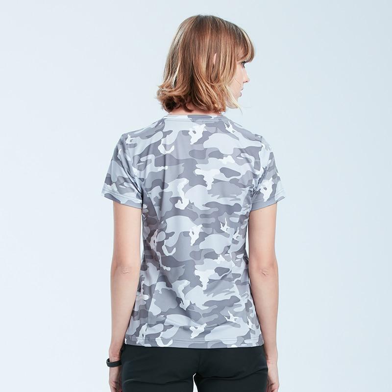 Tectop Quick dry t shirt women Summer UV Resistant Sport wear Tee Shirt Slim Fit Tops popular Running camouflage T-Shirts