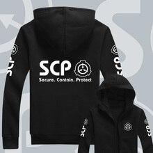 חדש נים גברים נשים עבור אנימה SCP קרן עיצוב הסווטשרט עבור יוניסקס מעיל סלעית סווטשירט