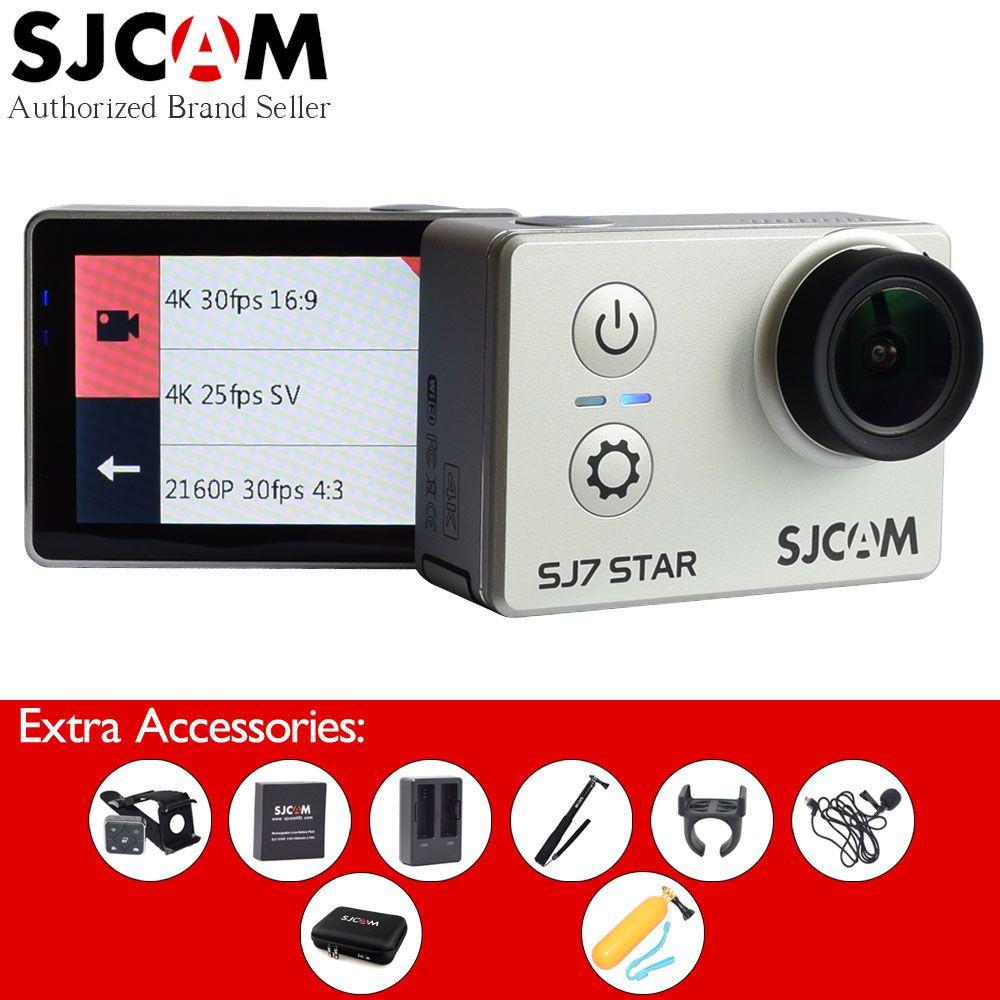 [Add Many Extra Accessories] Original SJCAM SJ7 Star 4K Wifi 2 Touch Screen Ambarella A12 Waterproof SJ 7 Sport Action Camera