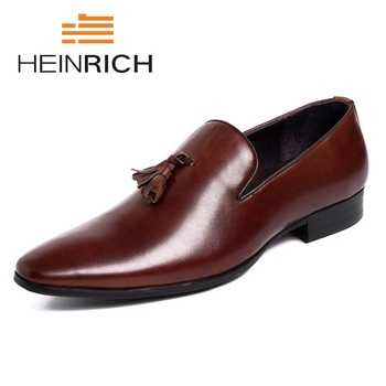 3e8df5d2 Zapatos de vestir de cuero formales de marca de lujo zapatos de Ballet  puntiagudos zapatos de