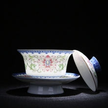 Hand Made Embossed Gaiwan Blue And White Porcelain Kung Fu Tea Set High Quality Portable Tea Pot Chinese Vintage Tea Cup high quality chinese tieguanyin tea fresh natural carbon specaily tikuanyin oolong tea high cost effective tea 125g