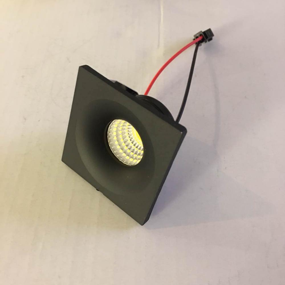 1pcs lot LED Mini Cabinet Downlight 3W diameter 40mm dc12v black Frame Recessed Ceiling No Flicker Spot Lights For Home in LED Downlights from Lights Lighting