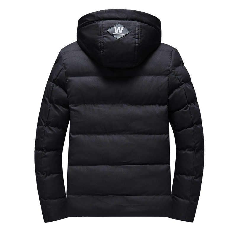 08354b5fe ... Parka Men Coats 2018 Winter Jacket Men Slim Thicken Fur Hooded Outwear  Warm Coat Top Brand ...