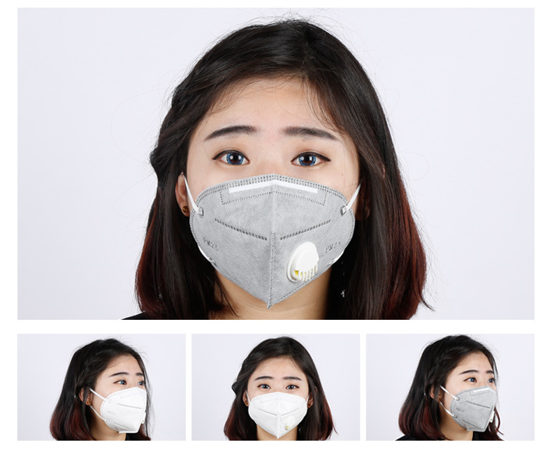 50pcs Charcoal Filter Kn95 Particulate Face Activated 5 Dust Carbon Breathable Respirator Mask Collapsible Pm2