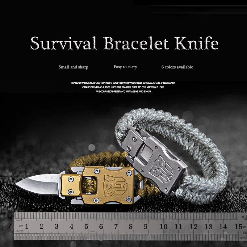 Outdoor Camping Survival Multi Functional Transformer Knife EDC Tactical With Packet Knife Self Defense Folding Pocket Knife self defense transformer multi functional edc knife