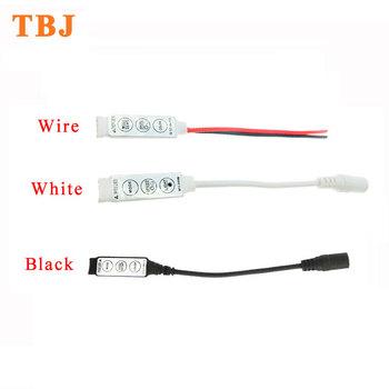 DC12V 24V Mini 3 klucz RGB kontroler LED dla 5050 3528 diody na wstążce tanie i dobre opinie TAIBAIJIA CN (pochodzenie) Button control MCR-IR3V12RGBB mini RGB controller Kontroler RGB Plastic 12 months For RGB strip light