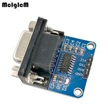MCIGICM 100 قطعة MAX3232 RS232 إلى TTL المنفذ التسلسلي وحدة محول DB9 موصل MAX232