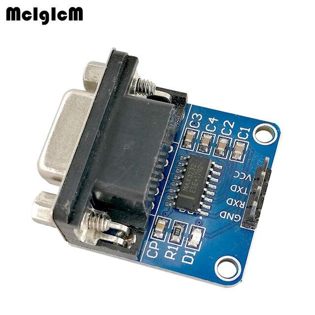MCIGICM 100pcs MAX3232 RS232 to TTL Serial Port Converter Module DB9 Connector MAX232