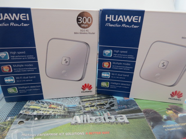 Lot of 50pcs HUAWEI WS323 300Mbps 5G/2.4G Dualband 3-in-1 WiFi Router/Repeater/Client EU Plug