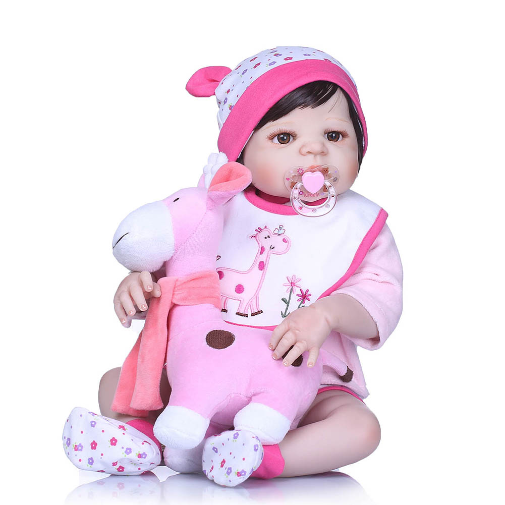 56CM Reborn Baby Doll Toy Silicone 3D Lifelike Jointed Newborn Doll Gift Playmate Toys BM88 56cm baby reborn doll full body silicone 3d lifelike jointed newborn doll playmate gift bm88