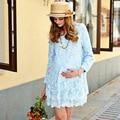 Весна Беременная Женщина Беременных Платья Одежда одежда Новый Женский Dress Топ Весна Лето Мода Модели