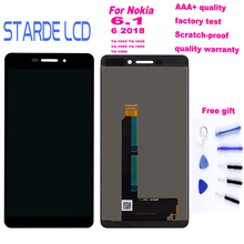 Starde Lcd For Nokia 6.1 6 2018 TA-1043 TA-1045 TA-1050 TA-1054 TA-1068 LCD Display Touch Screen Assembly Replacement +Tools
