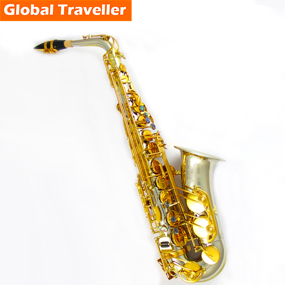 SILLY CAT Handmade professional Cupronickel Eb Alto Saxophone Eb Sax E flat Woodwind instruments Classical Jazz Blues Pop style