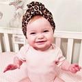 new fashion Winter Autumn Baby Hat leopard print turban kids girls cotton hat baby cap Indian Caps