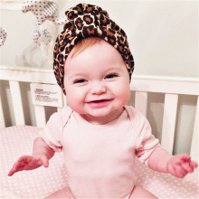 2016 new fashion Winter Autumn Baby Hat leopard print turban kids girls cotton hat baby cap Indian Caps