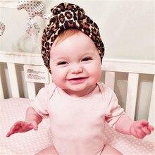 Leopardí čepička pro děti ve tvaru turbanu