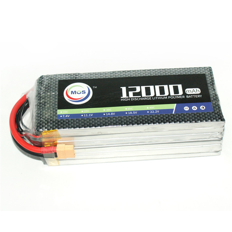 MOS 3S RC Lipo Battery 14.8v 25C 12000mAh For RC Aircraft Drones Helicopter Car Boat Quadcopter Airplane Li-polymer 4S AKKU 1s 2s 3s 4s 5s 6s 7s 8s lipo battery balance connector for rc model battery esc