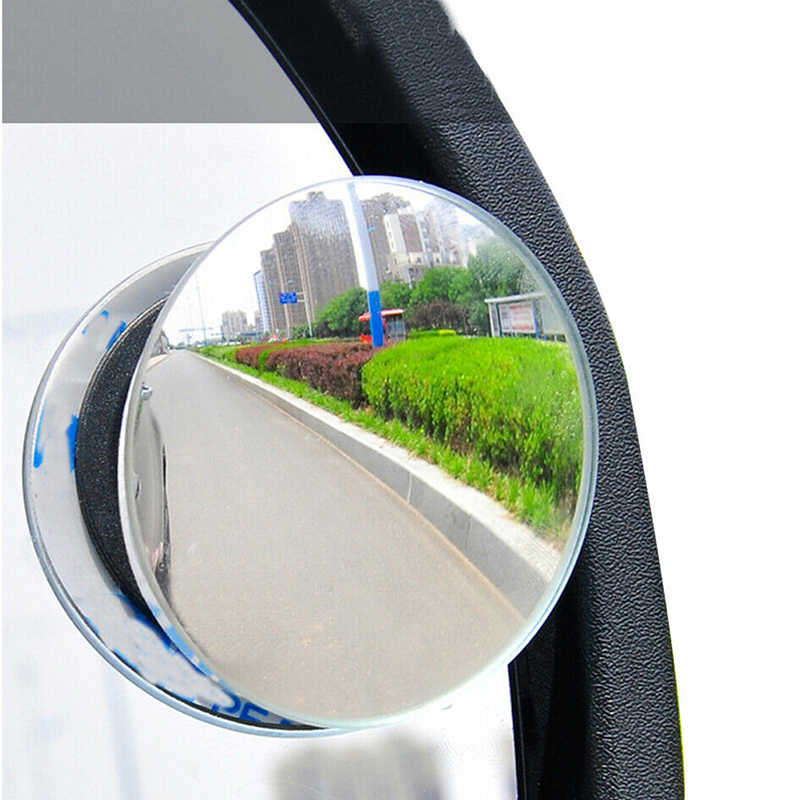 1Pc/2pcs Car 360 Degree Framless Blind Spot Mirror Wide Angle Convex Mirror Small Round Side Blindspot Rearview Parking Mirror