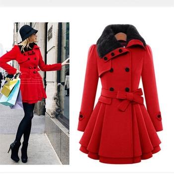 Winter Coat Women Wool & Blends Coats Female Jacket Winter Woman Coat Warm Windbreaker Plus Size Abrigos Mujer Invierno 2018 New 1