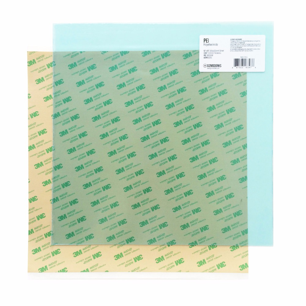 A 2pcs 120mm 8 220mm 10 12 16 500mm PEI Sheet 468MP Adhesive Tape 3D Printer