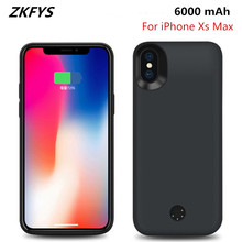 ZKFYS 6000mAh Portable Ultra Thin Fast Charging Case For iPhone Xs Max External Power Bank Pack Battery Cover