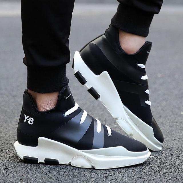 Новая Мода Марка Мужчины Квартиры Повседневная Обувь Дыхание Y3 Увеличение Высоты Мужская Обувь Chaussure Homme Zapatillas Deportivas Hombre